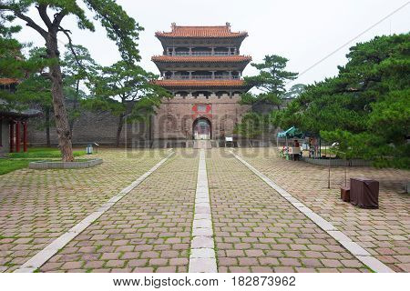 Liaoning, China - Jul 31 2015: Fuling Tomb Of The Qing Dynasty(unesco World Heritage Site). A Famous