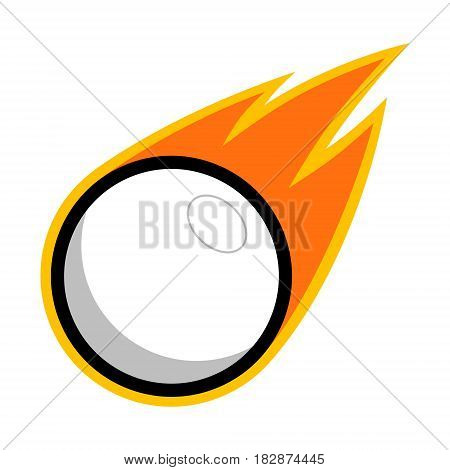 Lacrosse table tennis sport plastic ball comet fire tail flying logo