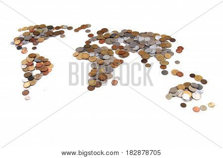 Old World Coins As World Map