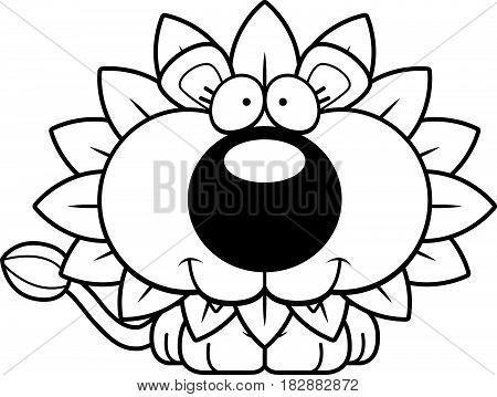 Cartoon Happy Dandelion Lion