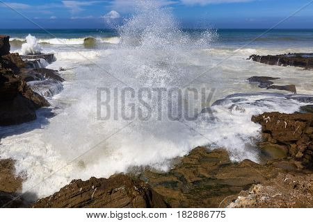 Stormy Atlantic Coast Near Rabat-sale, Morocco