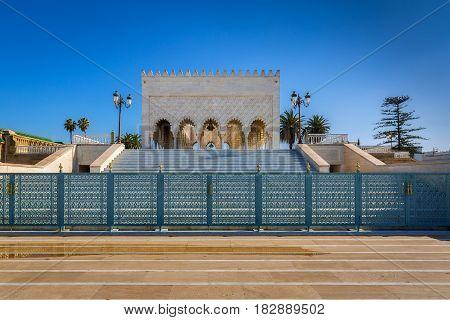 Mausoleum Mohamed V. In Rabat, Morocco