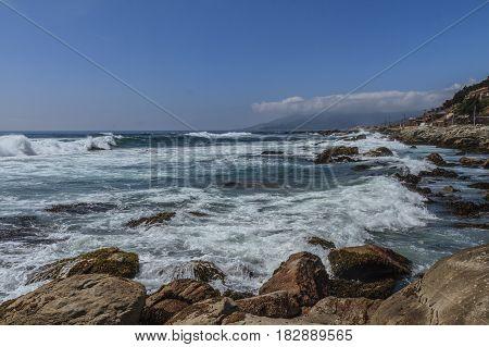 Playa Brava near Zapallar in Chile South America