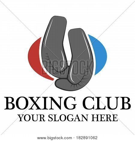 Boxing club logo design template eps 10