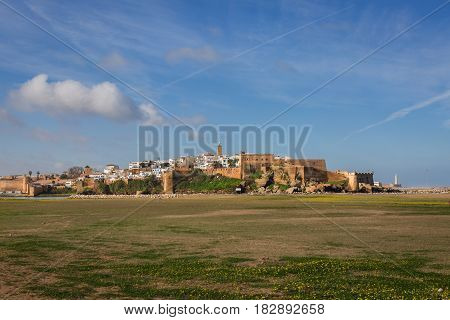 Morning view of Medina Rabat Morocco .