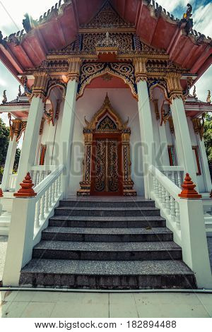 Thai temple. Wat Get Ho Temple, Anuphat Kritdaram Phuket, Thailand