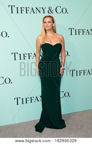 BROOKLYN, NY-APR 21: Actress Reese Witherspoon attends the Tiffany & Co. 2017 Blue Book Collection Gala at St. Ann's Warehouse on April 21, 2017 in Brooklyn, New York.