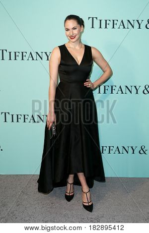 BROOKLYN, NY-APR 21: Model Emma Hepburn Ferrer attends the Tiffany & Co. 2017 Blue Book Collection Gala at St. Ann's Warehouse on April 21, 2017 in Brooklyn, New York.