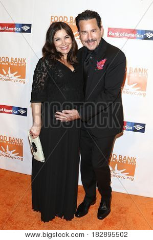 NEW YORK-APR 19: Gretta Monahan (L) and Ricky Paull Goldin attend the Food Bank for New York City's Can-Do Awards Dinner 2017 at Cipriani's on April 19, 2017 in New York City.