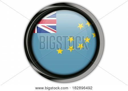 Tuvalu Flag In The Button Pin Isolated On White Background