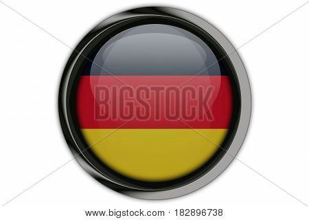 Germany Flag In The Button Pin Isolated On White Background