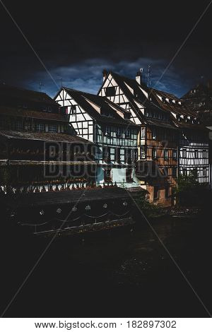 Petite France historic quarter of the city of Strasbourg in Alsace, eastern France