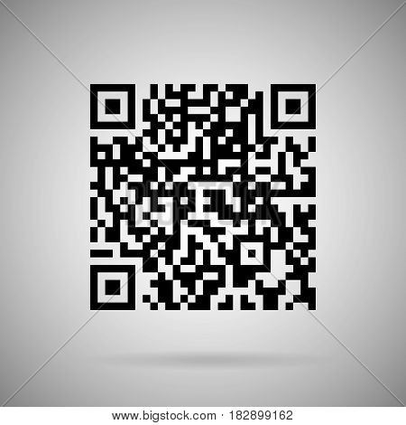 qr code vector  realistic icon design element