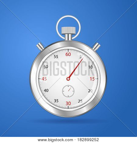 Realistic stopwatch timer  stop watch  vector clock