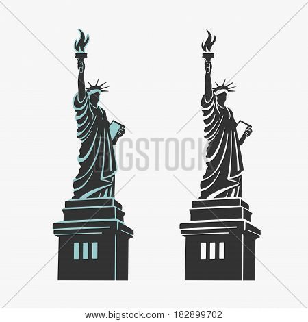 New York Statue of Liberty Symbol Vector eps 8 file format
