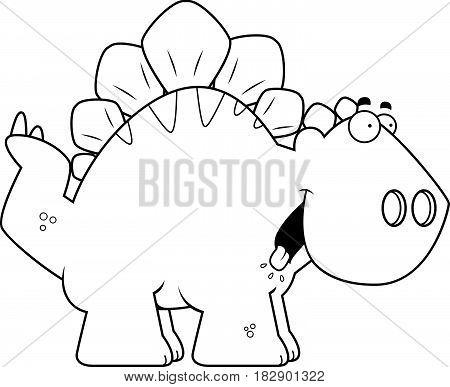 Hungry Cartoon Stegosaurus