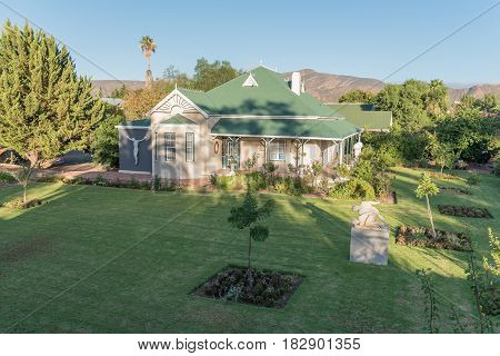 CALITZDORP SOUTH AFRICA - MARCH 25 2017: An historic old house in Calitzdorp a small town in the Western Cape Province