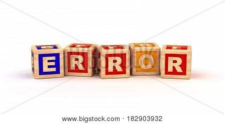 Error Text Cube (computer generated image) 3D Rendering