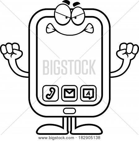 Angry Cartoon Smartphone