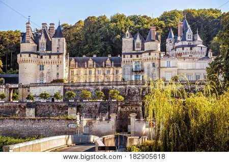 The chateau d'Usse, France. This castle is located in the Loire Valley and was built in the 15th century.