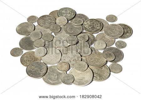 Huge pile of the old Chinese silver coins