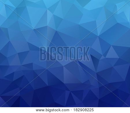 Geometric Rumpled Triangular Low Poly Origami Style Gradient Illustration Graphic Background. Vector