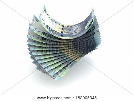 South African Rand (computer generated image) 3D Rendering