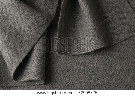 Gray Wool Fabric, Textile With Patterns