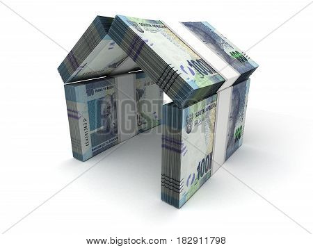 Real Estate Concept South African Rand (computer generated image) 3D Rendering