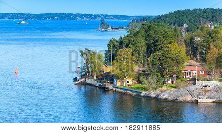 Swedish Rural Landscape, Small Village