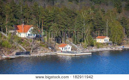 Swedish Rural Landscape, White Houses
