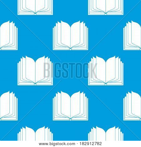 open book with blank pages. vector seamless background.