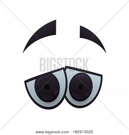 Cartoon eyes expression icon vector illustration graphic design