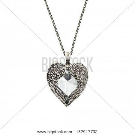 Vintage big heart shaped pendant