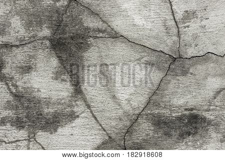 Fractured Concrete Surface Closeup Background Or Texture.