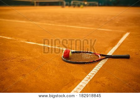 Tennis Racket And The Ball