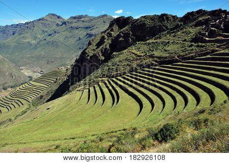 Pisac in the Urubamba Valley in Peru