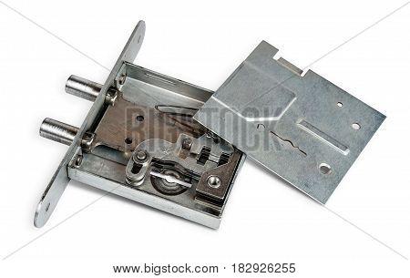 the opened door lock is ready to repair