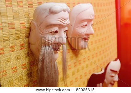 Chinese Opera Mask with clipping path background