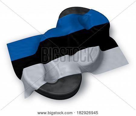paragraph symbol and flag of estonia - 3d rendering