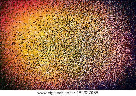 Golden orange brown grunge textured grainy facade surface background