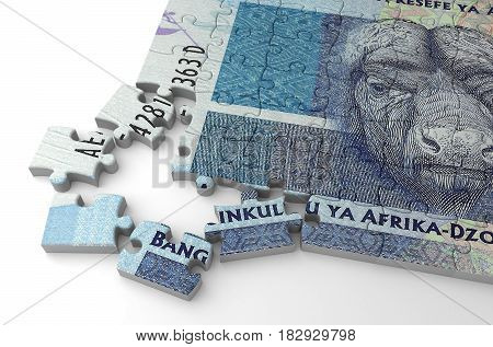 South African Rand Puzzle (computer generated image) 3D Rendering
