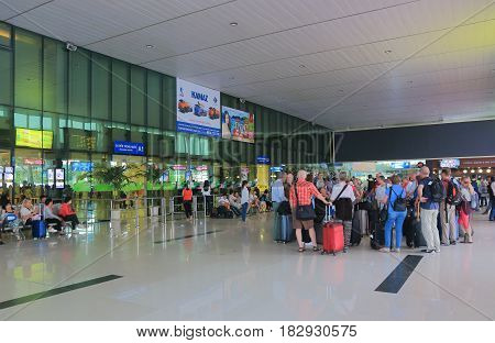 HO CHI MINH CITY VIETNAM - NOVEMBER 25, 2016: Unidentified people travel at Ho Chi Minh City International airport.