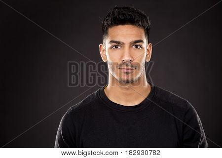 Fitness East Asian Man On Dark Grey Background