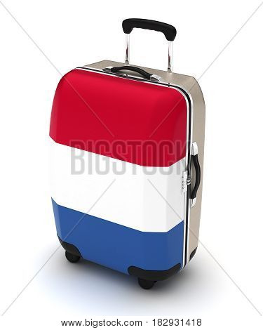 Travel to France (isolated with clipping path) 3D Rendering
