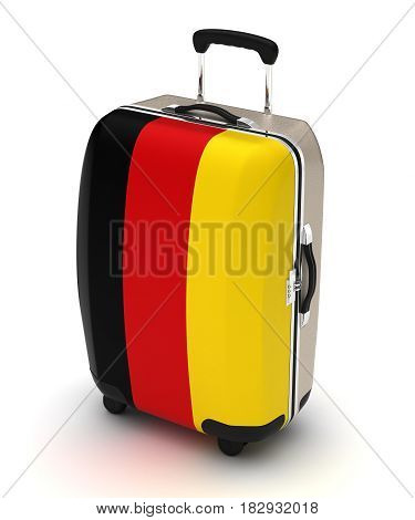 Travel to Germany (isolated with clipping path) 3D Rendering