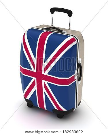 Travel to United Kingdom (isolated with clipping path) 3D Rendering
