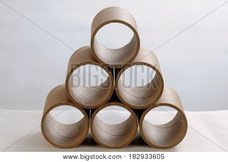 Paper Tubes Cardboard tube on a white background