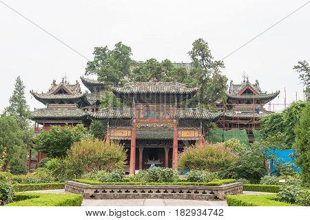 Shanxi, China -  Aug 24 2015: Xiezhou Guandi Temple. A Famous Historic Site In Yuncheng, Shanxi, Chi