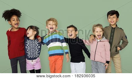 Group of Children Smiling Together Friends